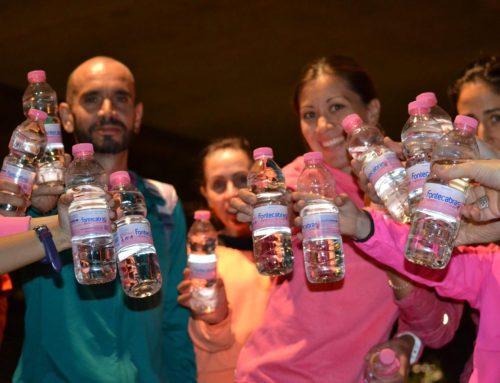 Junto a Isabel Macías en su quedada deportiva contra el cáncer de mama