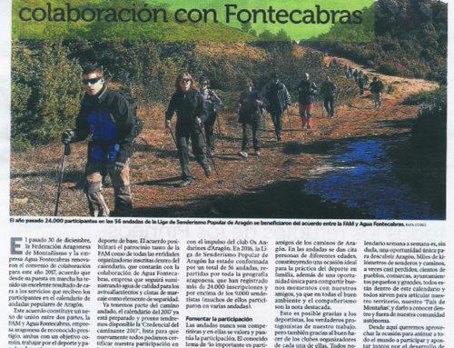 Renovación acuerdo de colaboración FAM y andadas populares de Aragón